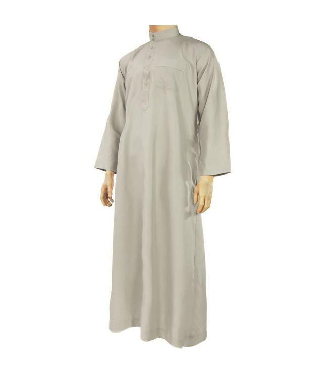 Al Haramain Jubbah Thobe Jalabiya - Grau
