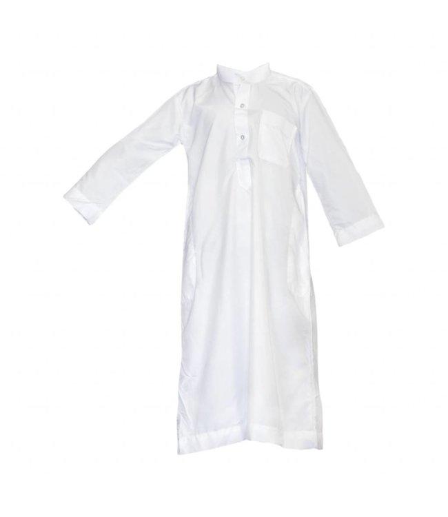 Kinder Kaftan Jubbah In Weiss - Arabisches Galabiyah Kleid