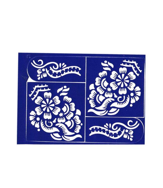 Self-adhesive henna stencil - Set