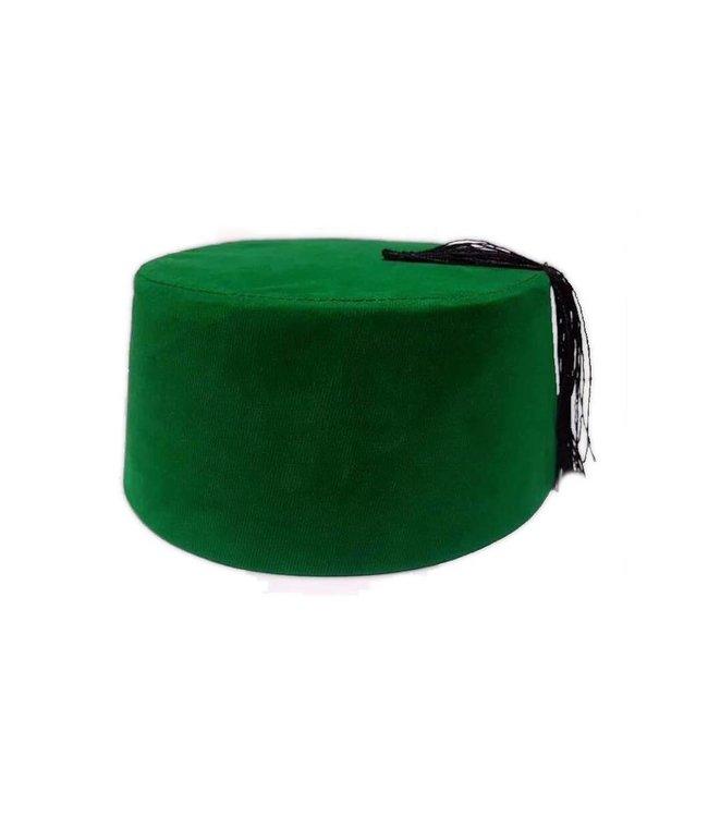 Fez Hat In Green - Tarboush, Fes, Oriental Headgear Cap