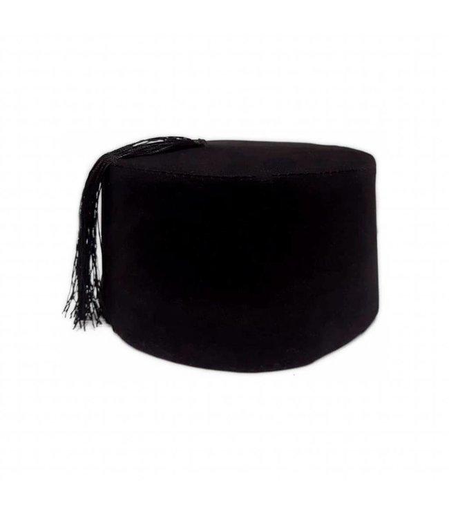 Fez Mütze In Schwarz - Fes Tarboush Orientalischer Hut