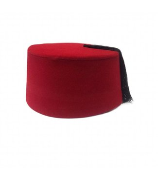 Fez cap hat in red
