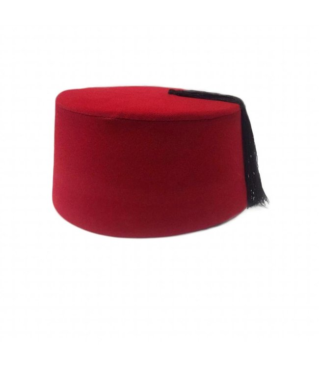 Fez Hat In REd - Tarboush, Fes, Oriental Headgear Cap