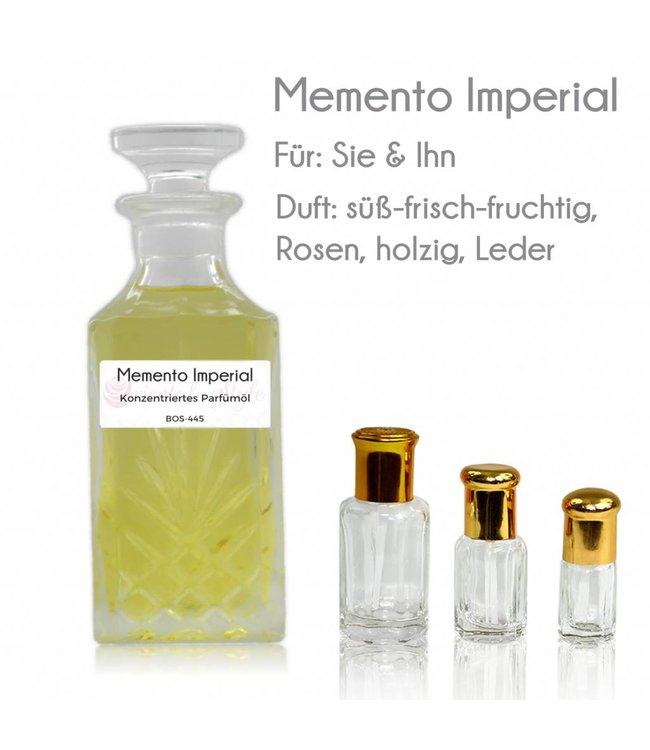 Sultan Essancy Perfume oil Imperial Memento - Perfume free from alcohol
