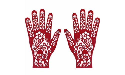 Henna Schablonen Tattoos