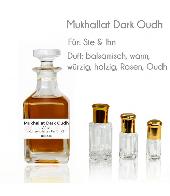 Afnan Parfümöl Mukhallat Dark Oudh von Afnan - Parfüm ohne Alkohol