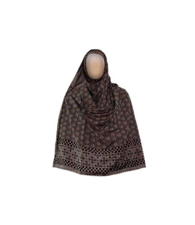 Großer Shayla Schal - Hijab in Grau