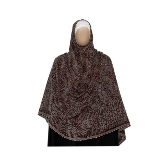 Gray brown Shayla hijab scarf
