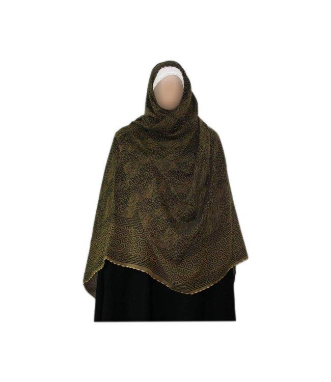 Großer Shayla Schal - Hijab in Olive