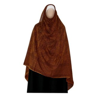 Red brown Shayla hijab scarf