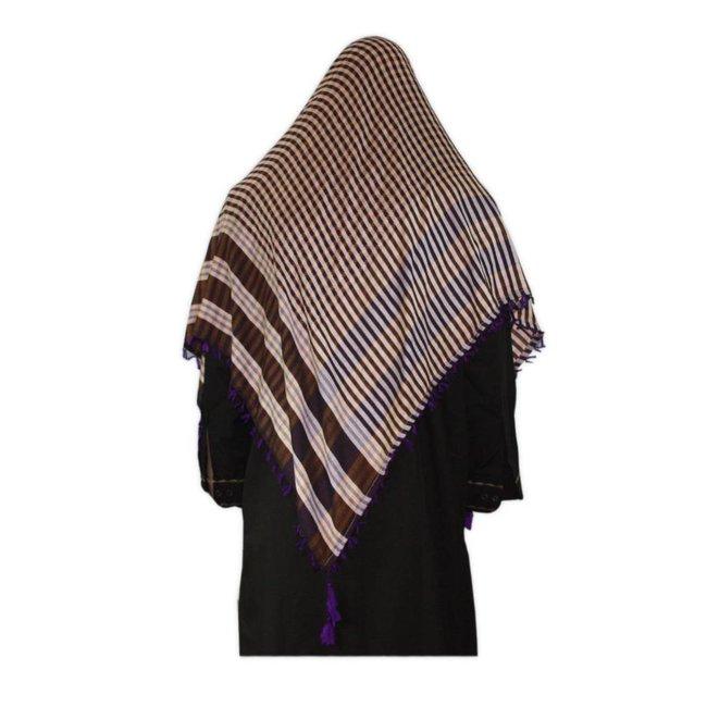 Großes Tuch - Shimagh Violett 120x115cm