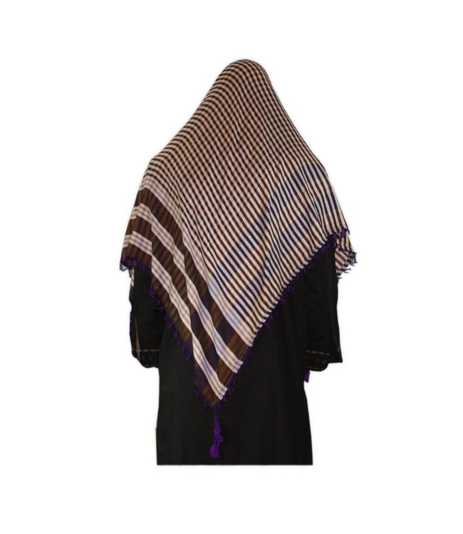 Large Scarf - Shimagh Purple 120x115cm