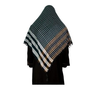 Großes Tuch - Shimagh Schwarz 120x115cm