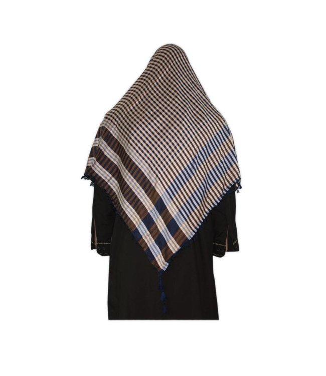Large Scarf - Shimagh Blue 120x115cm