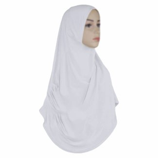 Amira Hijab in Weiss