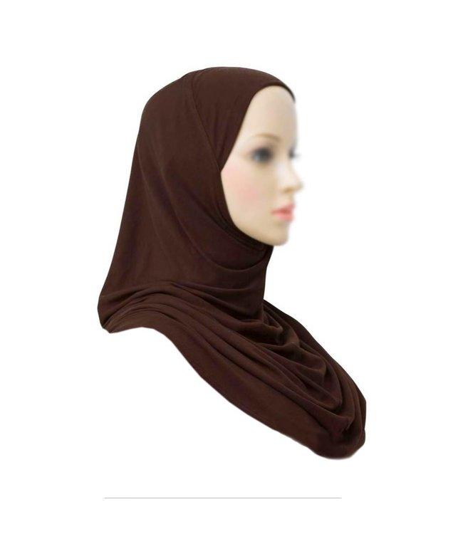 Amira Hijab Kopftuch - Dunkelbraun