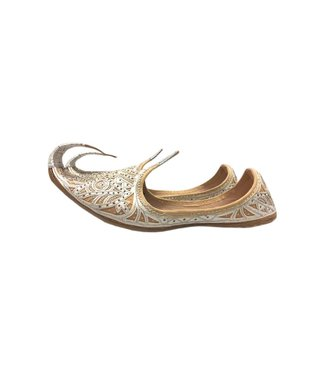 Indian Khussa Shoes In Silver