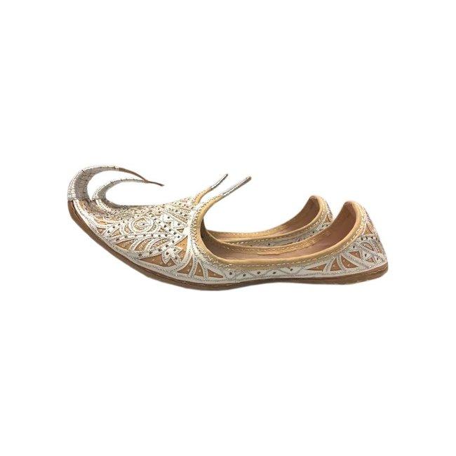 san francisco 9c963 1a41c Indische Schnabelschuhe - Khussa Schuhe in Silber