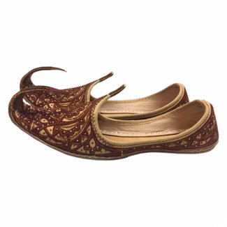 Indian Khussa Shoes In Brown