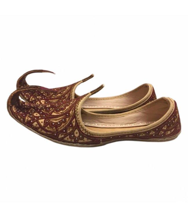 Indian Beak Shoes - Oriental Khussa In Brown