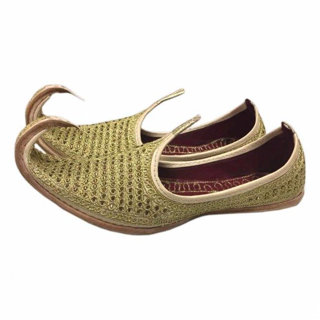 Indische Khussa Schuhe Gold
