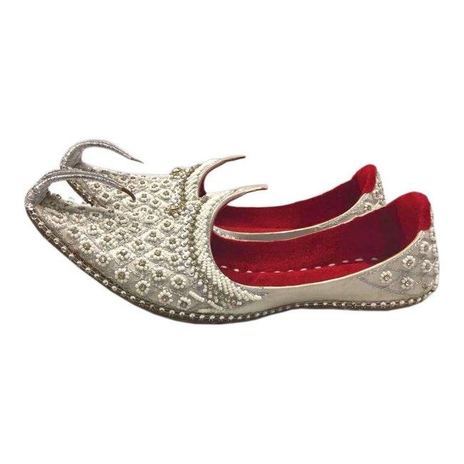 best service c7a31 b716b Orientalische Schnabelschuhe - Khussa Schuhe in Silber