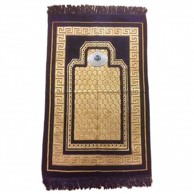 Prayer Mat with Compass - Dark Blue