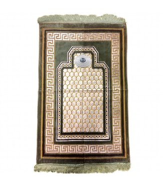 Prayer Mat with Compass - Olive Green