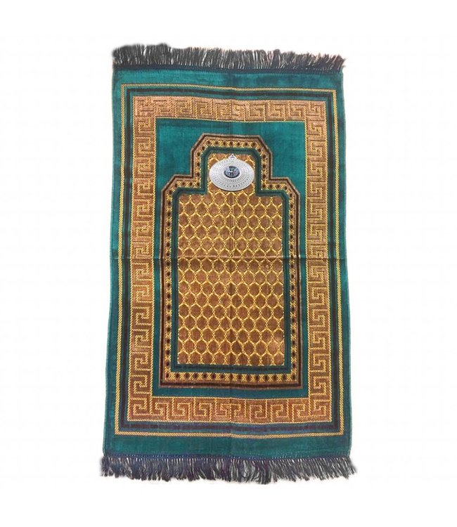 Prayer rug - Seccade With Compass In Turquoise Blue