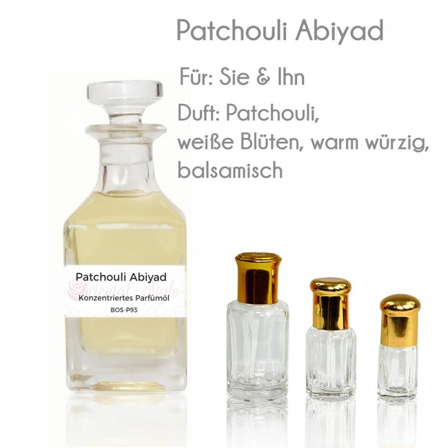 Sultan Essancy Perfume oil Patchouli Abiyad