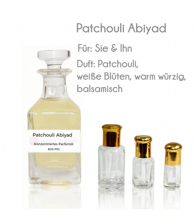 Perfume oil Patchouli Abiyad - Perfume free from alcohol