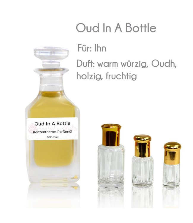 Perfume oil Oud In A Bottle - Perfume free from alcohol
