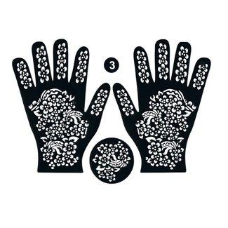 Henna Hand Stencil 3-piece set