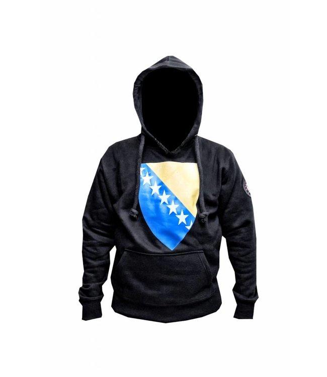 Sweatshirt Hooded Hoodie Bosnia Flag