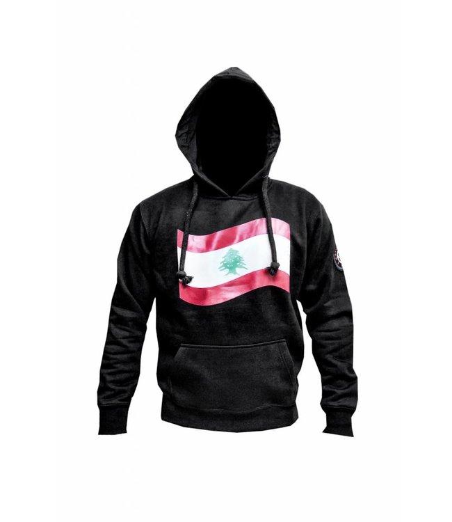 Sweatshirt Hooded Hoodie Lebanon Flag