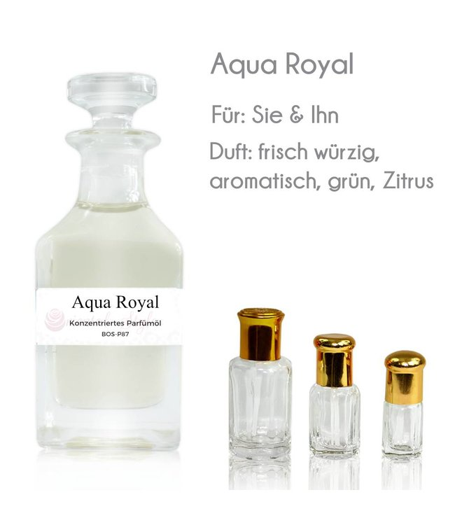 Concentrated perfume oil Aqua Royal Perfume Free From alcohol