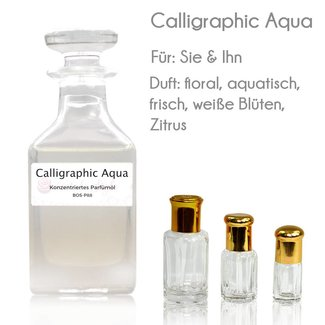 Oriental-Style Perfume Oil Calligraphic Aqua