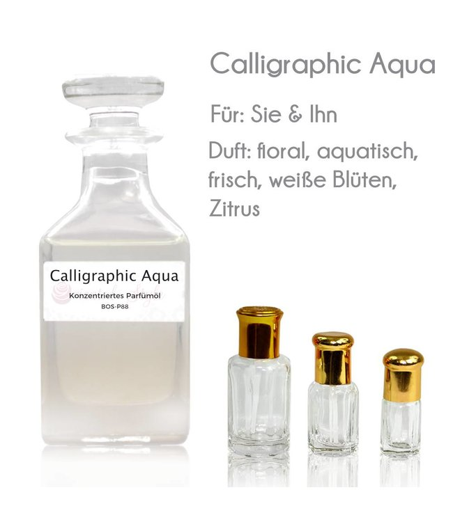 Concentrated perfume oil Calligraphic Aqua Perfume Free From alcohol