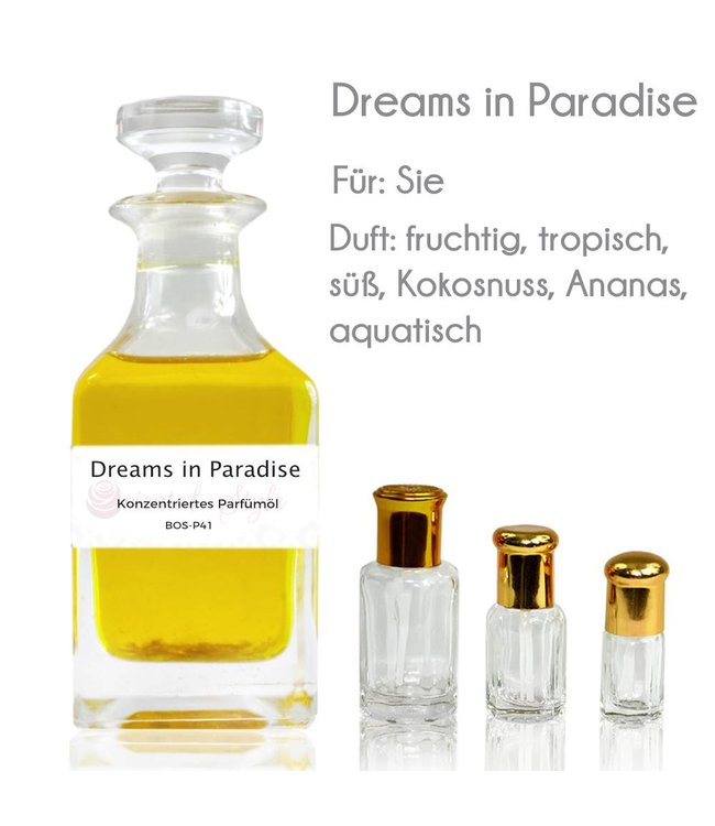 Concentrated perfume oil Dreams in Paradise Perfume Free From alcohol