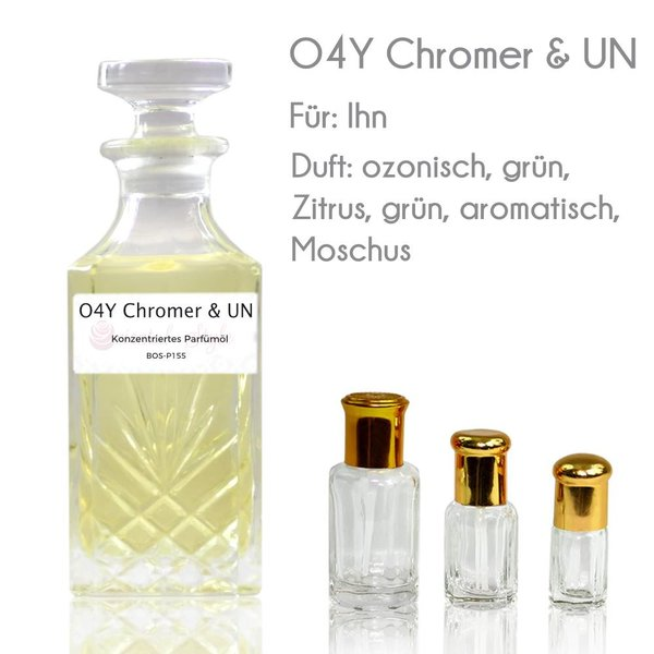 Oriental-Style Concentrated perfume oil O4Y Chromer & UN Perfume Free From alcohol