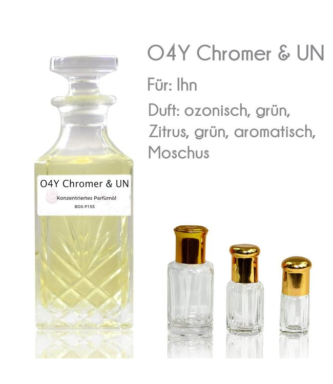 O4Y Chromer & UN Parfümöl - Parfüm ohne Alkohol
