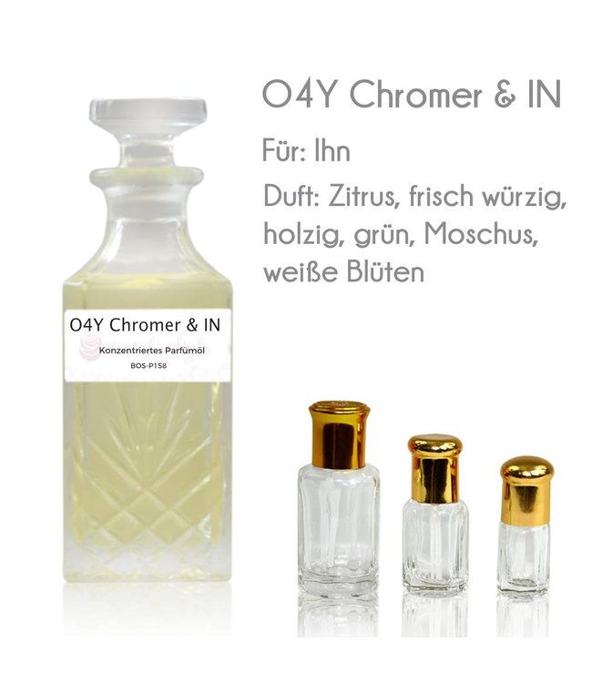 Concentrated perfume oil O4Y Chromer & IN Perfume Free From alcohol