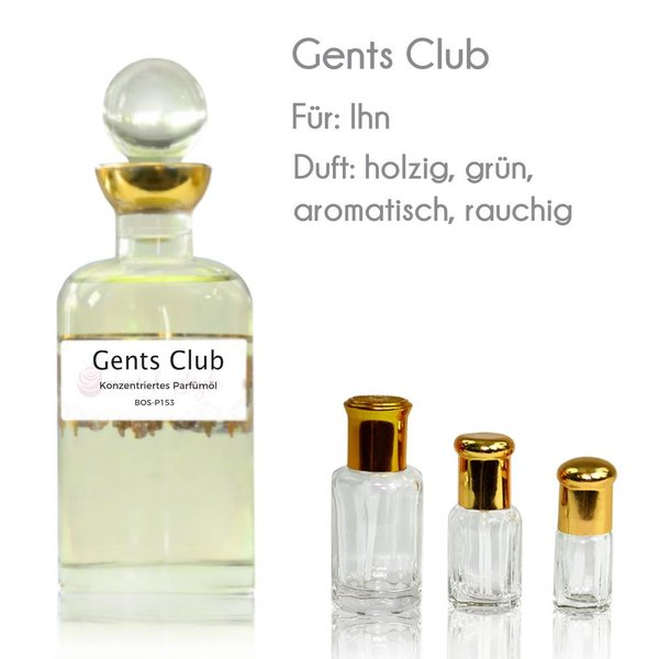 Oriental-Style Gents Club Parfümöl - Parfüm ohne Alkohol