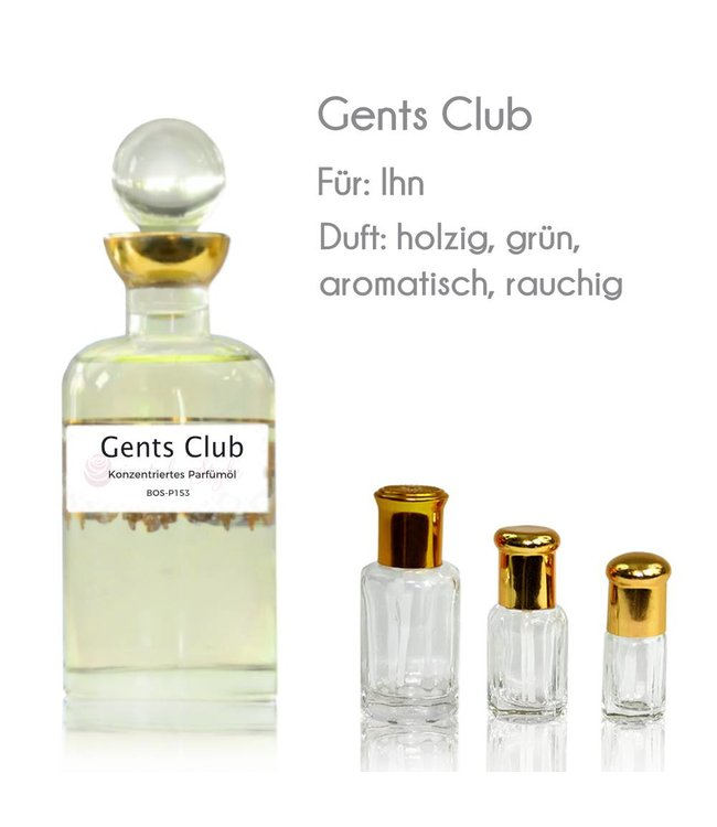 Gents Club Parfümöl - Parfüm ohne Alkohol