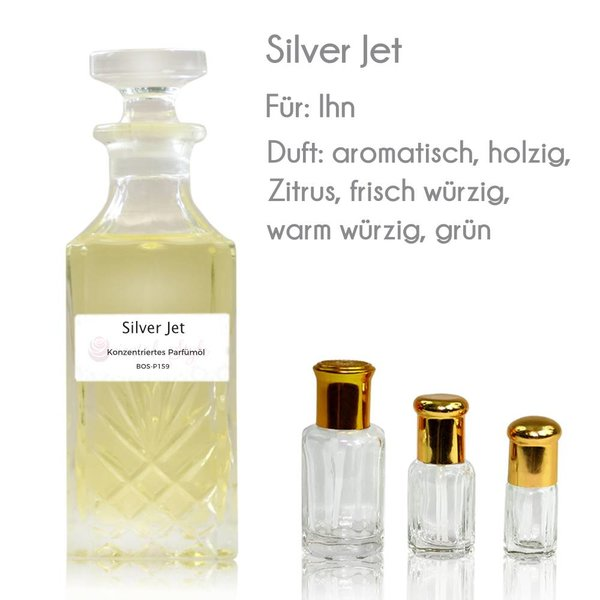 Oriental-Style Concentrated perfume oil Silver Jet Perfume Free From alcohol