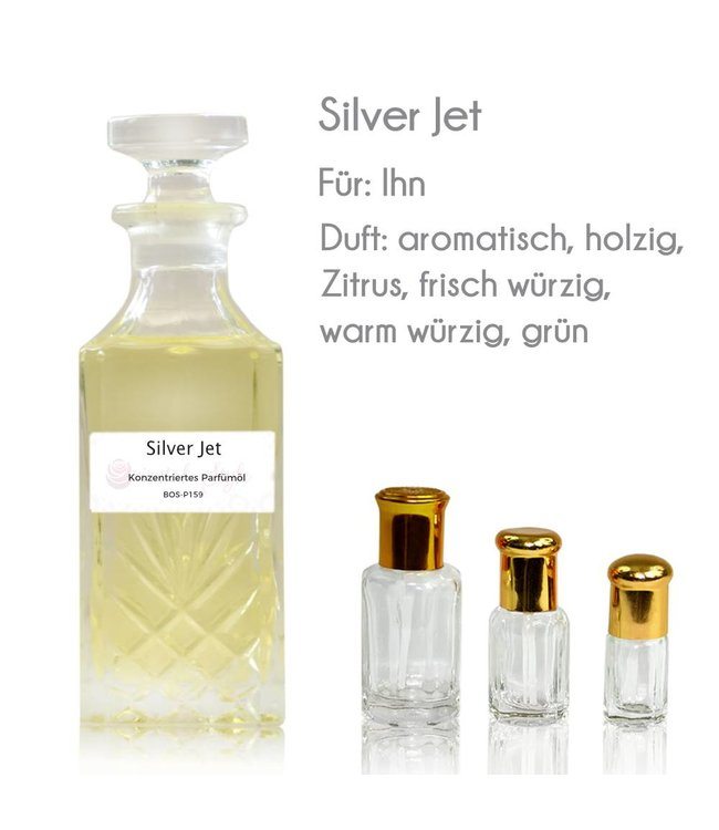 Concentrated perfume oil Silver Jet Perfume Free From alcohol