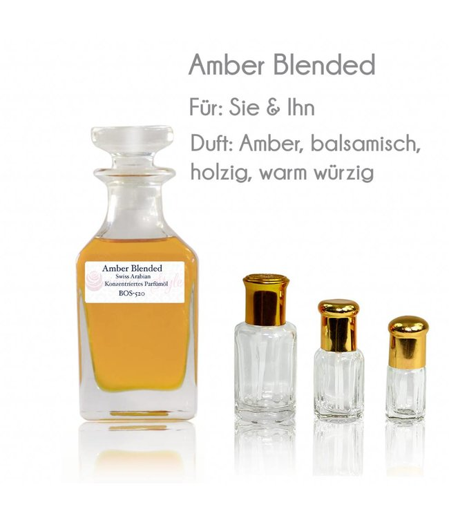 Swiss Arabian Perfume oil Amber Blended Perfume free from alcohol