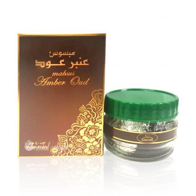 Ard Al Zaafaran Perfumes  Bakhoor Mabsus Amber Oud (40g)