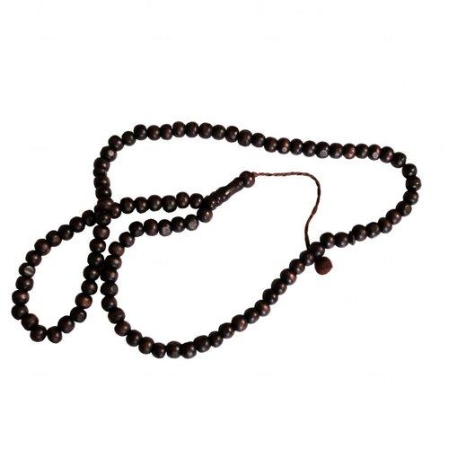 Tasbih prayer beads - Wooden Round Dark