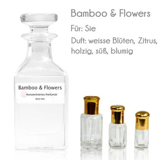 Oriental-Style Perfume Oil Bamboo & Flowers